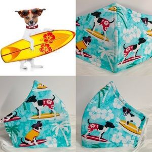 Surfer dogs in Hawaii designer adult face mask
